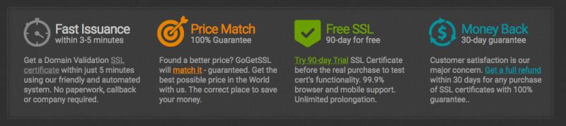 Features of GoGetSSL