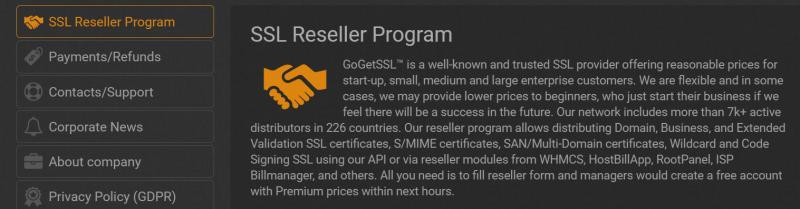GoGetSSL Reseller program