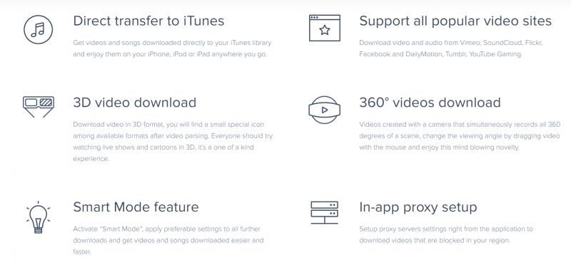 4k video downloader features