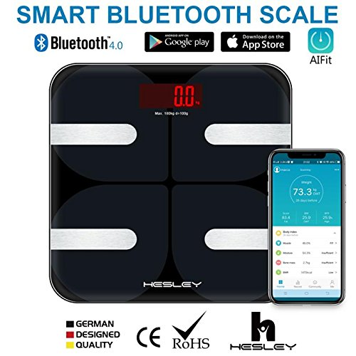 HESLEY Smart Bluetooth Body Weight Scale