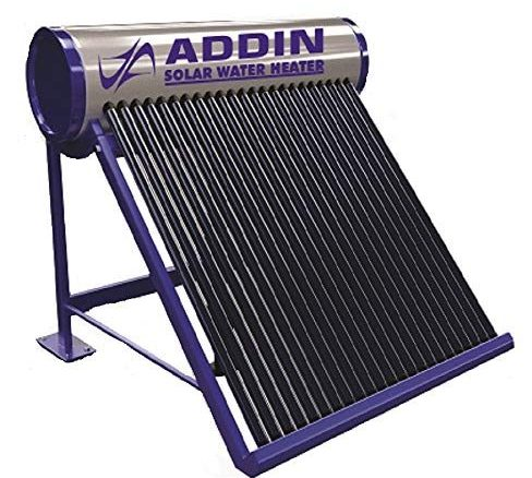 ADDIN POWER LIMITED 100 LPD Galvanize 2.5 MM Thick Tank and 58 MM x 1800 MM Vacuum Tube Water Heater ETC Type