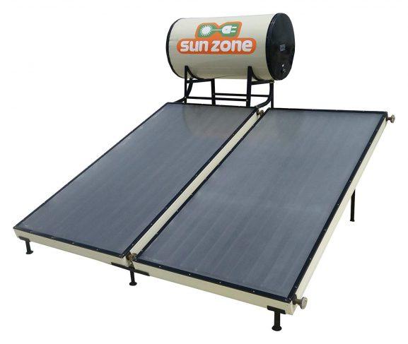 Sun Zone Solar 100 LPD Flat Plate Water Heater (Off-White)