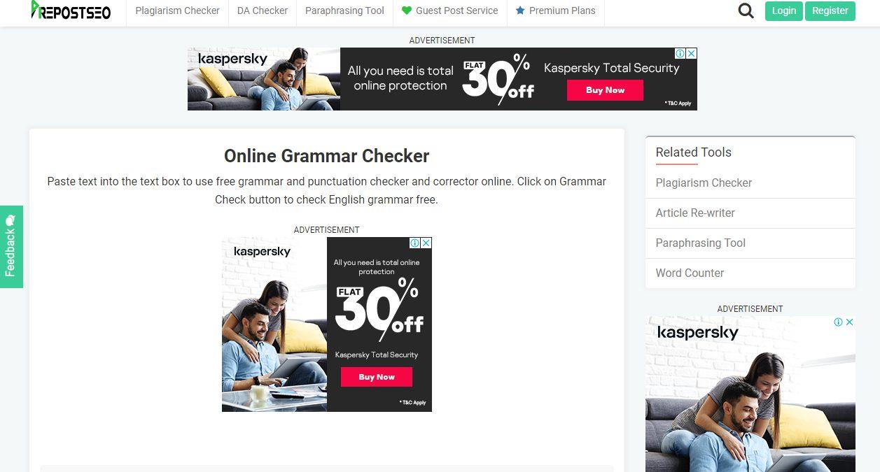 Prepostseo Grammar Checker