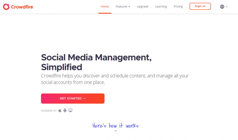 crowdfire social media scheduling tool