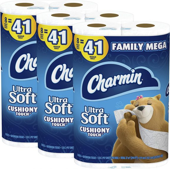 CHARMIN ULTRA SOFT toilet paper (best toilet paper in the world)