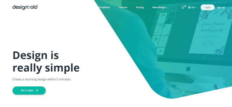DesignBold site like canva