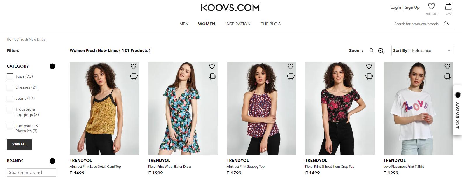 Koovs: Sites Like Asos