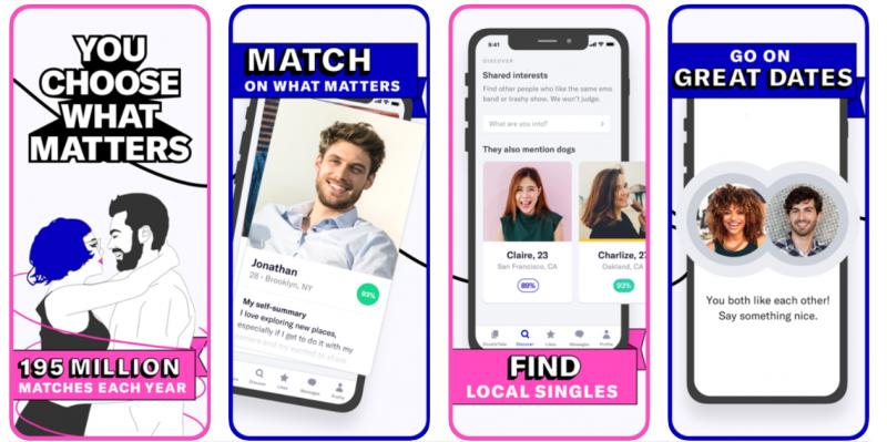 OkCupid app like tinder