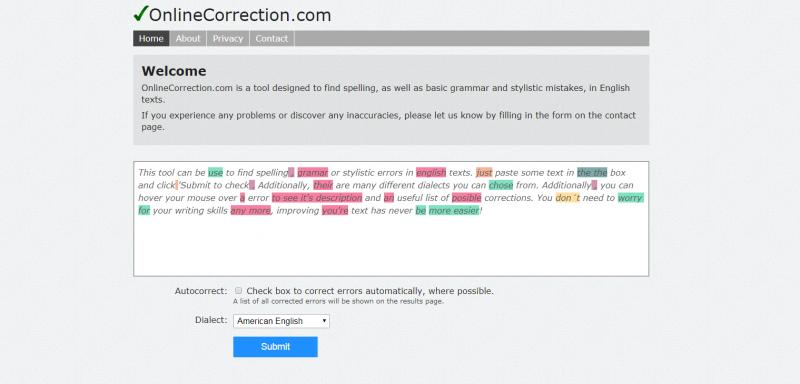 OnlineCorrection.Com: Grammarly alternatives