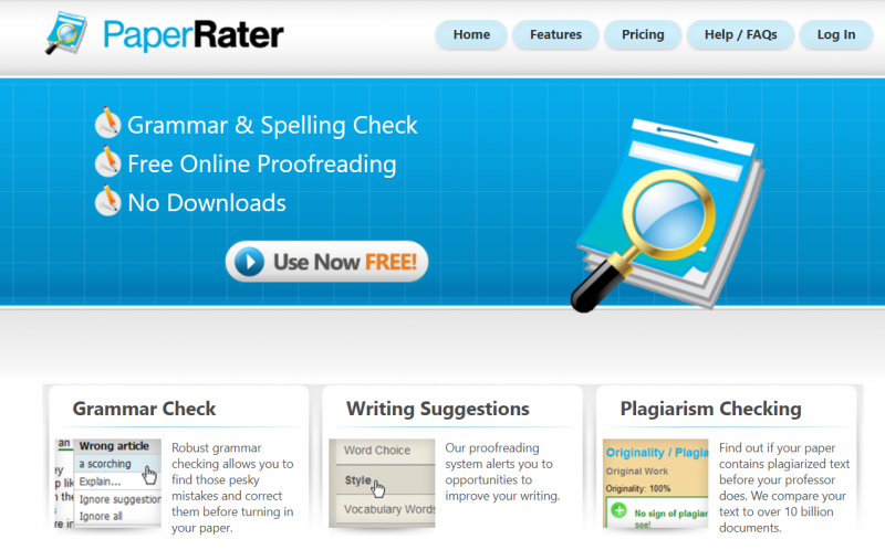 PaperRater alternative to grammarly
