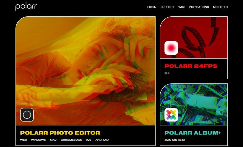 Polarr site like canva