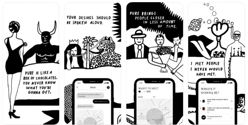 Pure app similar to tinder
