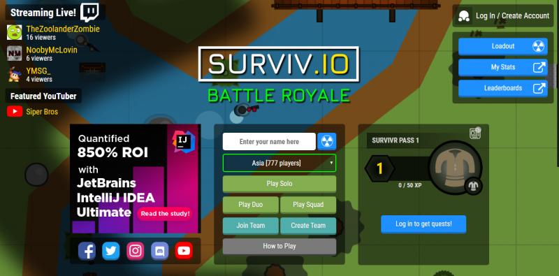 Surviv. Io (games like apex legends)