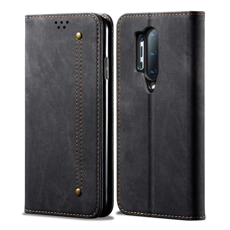 Sandstone® Denim Flip Case Magnetic Closure Cover - best oneplus 8 pro cover