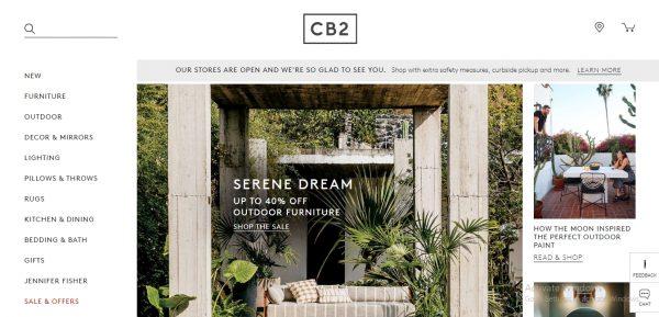CB2 - website like flying tiger