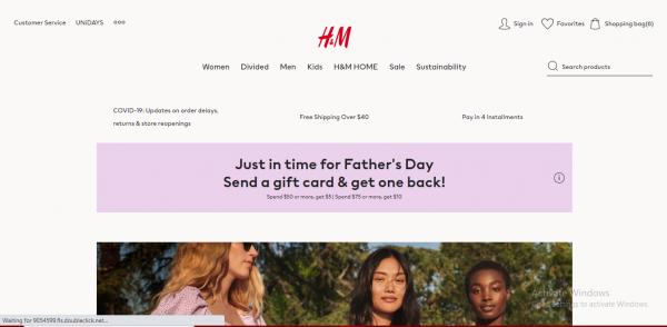 H & M - webiste like zara