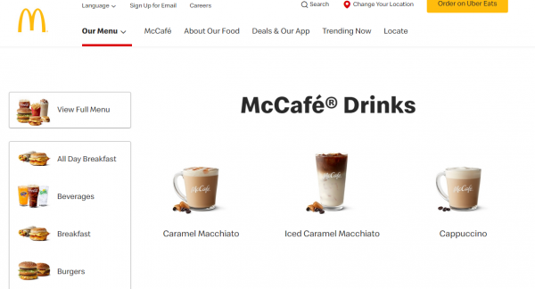 McCafe Best coffee brands in USA