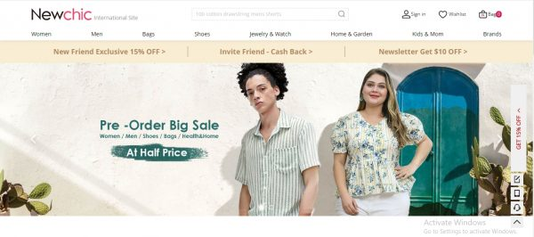 New chic - website like zara