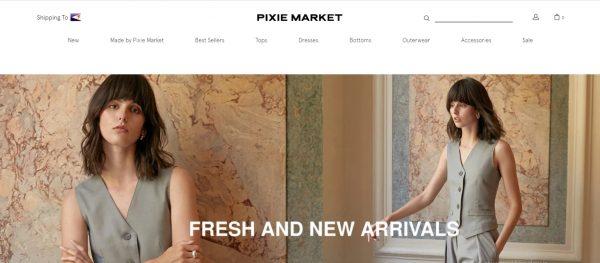 Pixie market - website like zara