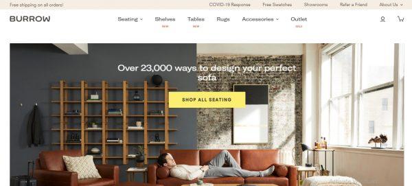 burrow - website like flying tiger