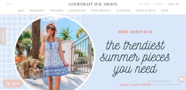 goodnight macaroon - website like zara