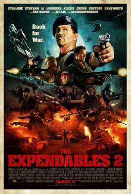 The Expendables 2 posture