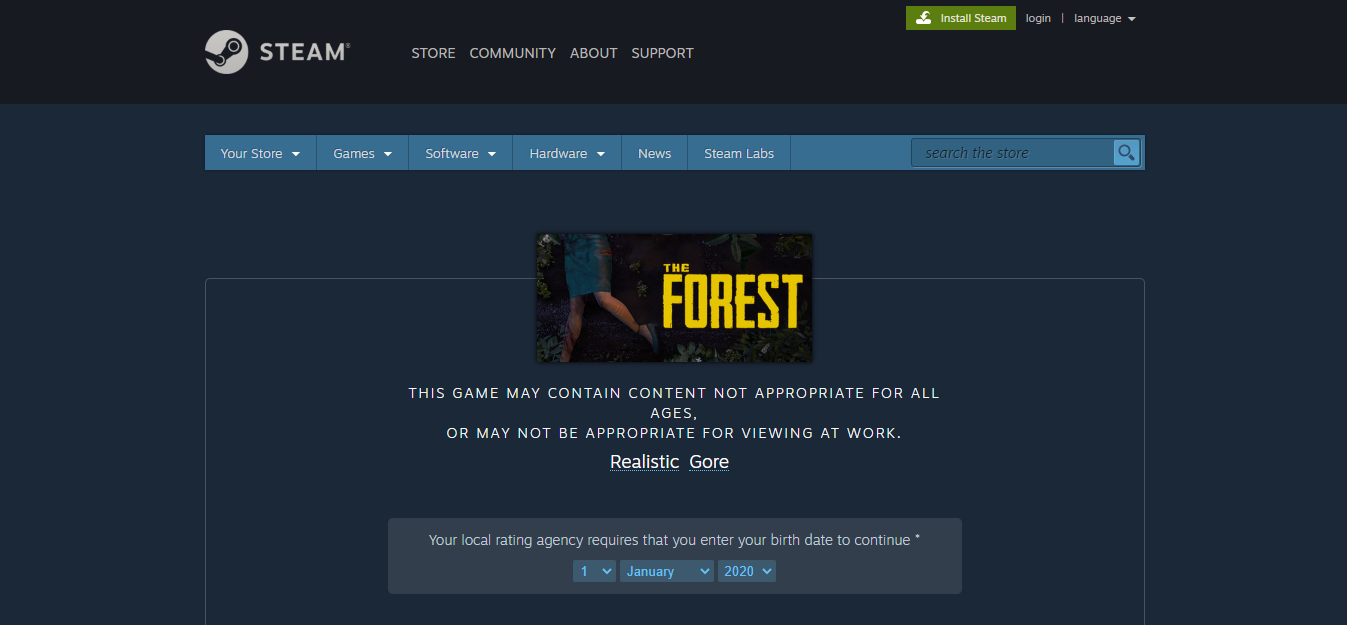 The Forest game