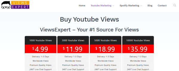 ViewsExpert - buy youtube views