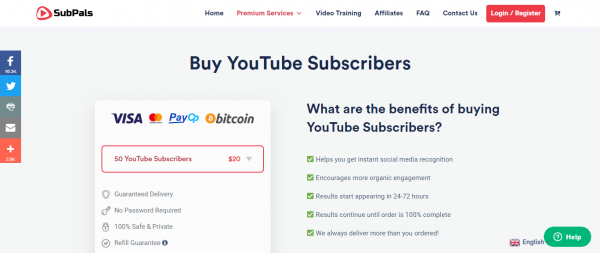 SubPals: YouTube Services
