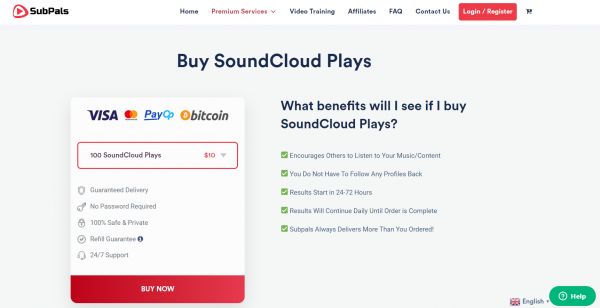 Subpals - Buy Soundcloud Plays