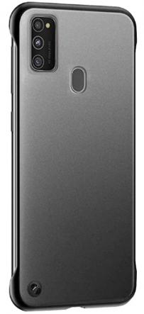 Amozo Borderless Ultra Slim Case with Camera Protection (Black): Best Cover For Samsung M31