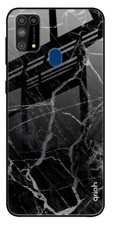 Black Stone Texture Glass case: Best Cover For Samsung M31