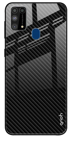 Carbon Fibre Texture Glass case: Best Cover For Samsung M31