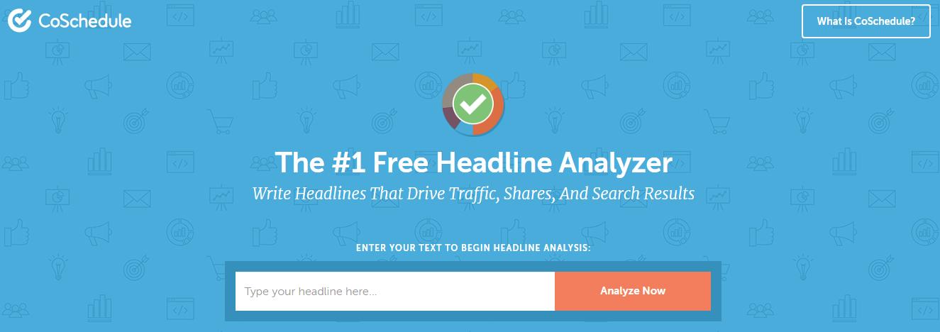 CoSchedule's Headline Analyzer - facebook growth tool
