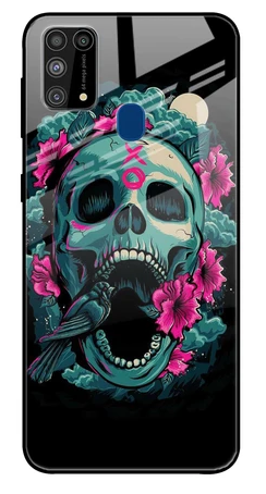 Colorful Skull Texture Glass case