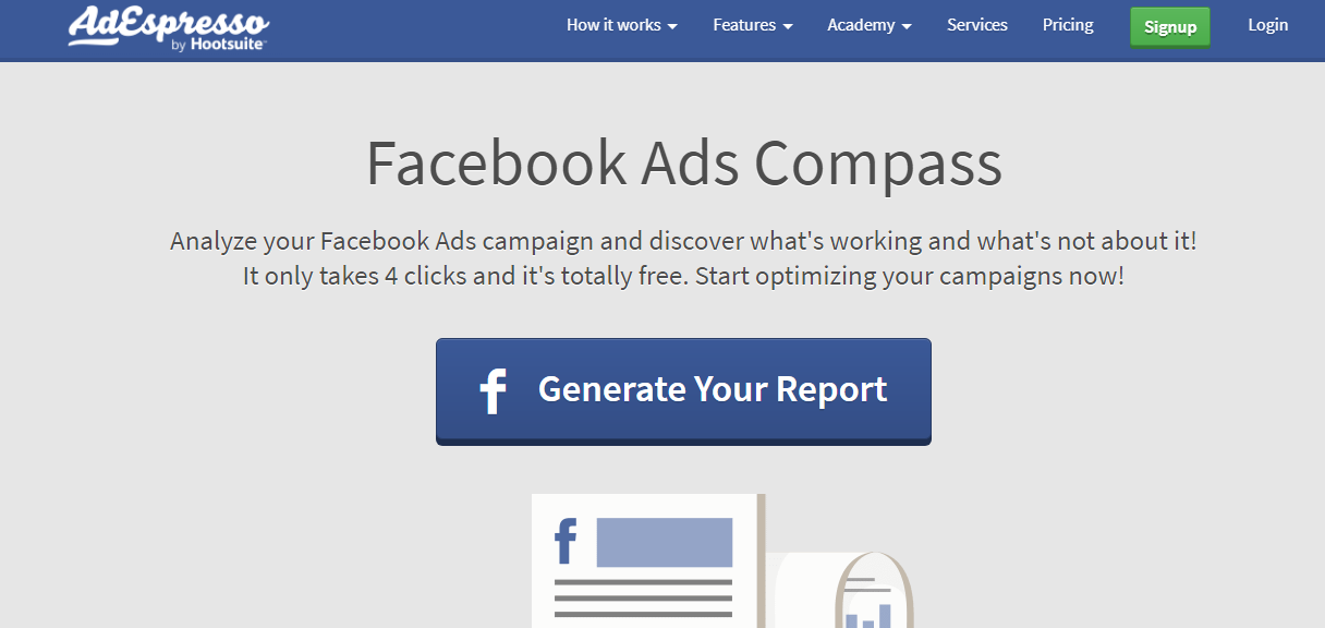 Facebook Ads Compass - facebook growth tool