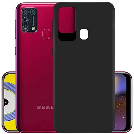 Hupshy Back Cover (Black, Grip Case, Silicon): Best Cover For Samsung M31