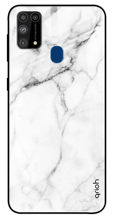 Modern White Marble Glass case: Best Cover For Samsung M31