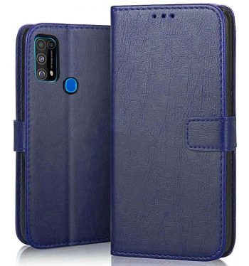 Pikkme Flip Cover Wallet Case (Blue): Best Cover For Samsung M31