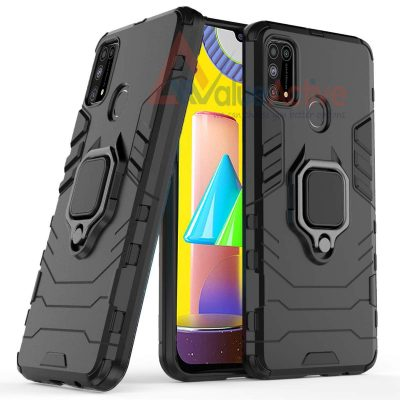 ValueActive Back Cover Rugged Armor with Ring Holder: Best Cover For Samsung M31