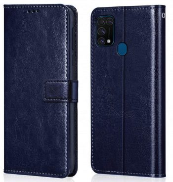 WOW Imagine Galaxy M31 lip Case Leather Finish Blue: Best Cover For Samsung M31