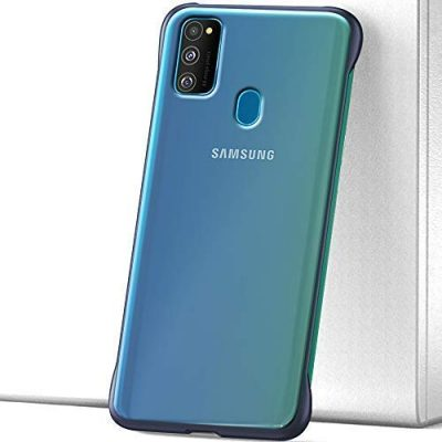 Xec2us Back Case/Cover (Blue Border): Best Cover For Samsung M31