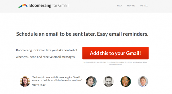 Boomerang - email scheduling tool