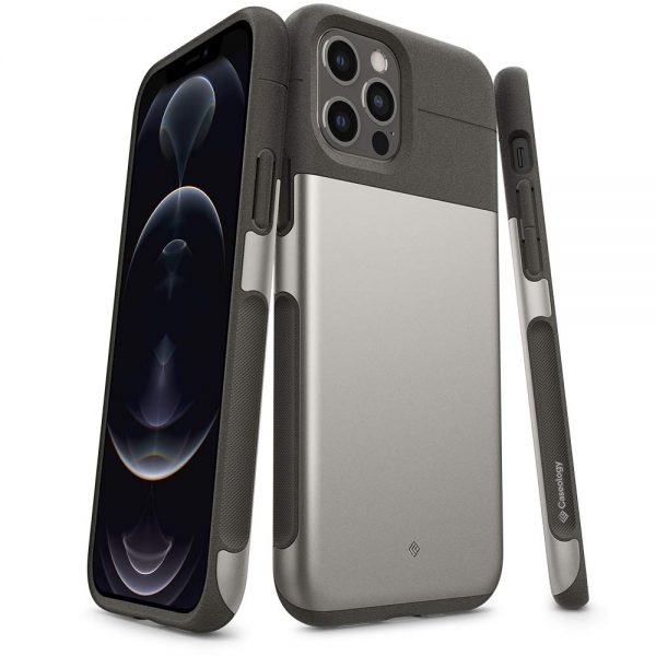 Caseology Legion iPhone 12 Pro Back Cover – Stone Gray
