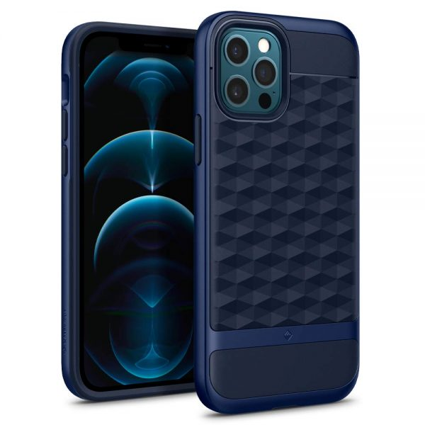 Caseology Parallax iPhone 12 Pro Back Cover – Midnight Blue