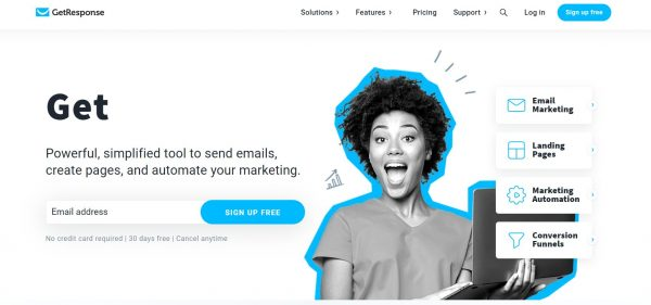 GetResponse - best email scheduling tool