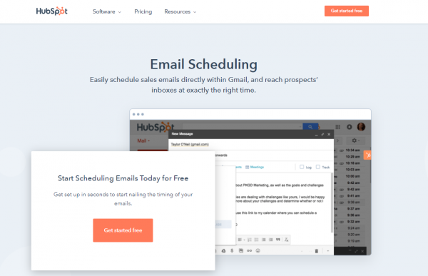 HubSpot - email scheduling tool