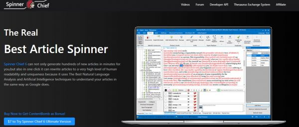 Spinner Chief - best article rewriting tool