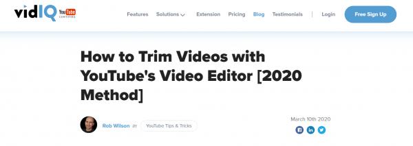VidIQ video editor