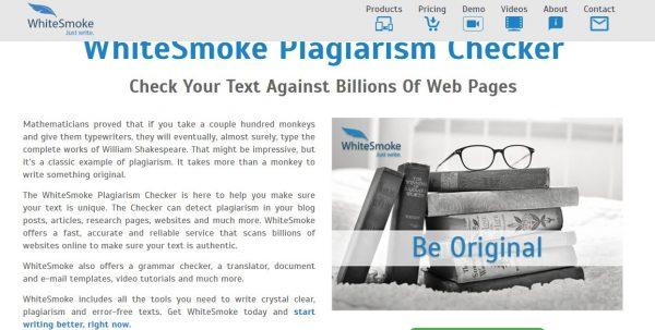 WhiteSmoke - best plagiarism checker tool